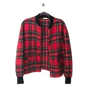 Vintage 50's/60's Plaid Bomber Jacket